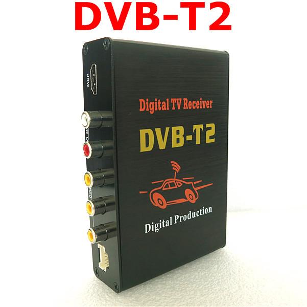 DVB T2 H.264 Dual Antenna Mobile Digital TV Box External USB DVB-T2 Car TV Receiver Russian&Europe&Southeast Asia Free shipping(China (Mainland))