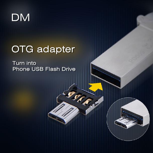 Новый дм OTG адаптер OTG функции превратиться в телефон USB флэш-накопитель адаптеры для мобильных телефонов бесплатная доставка