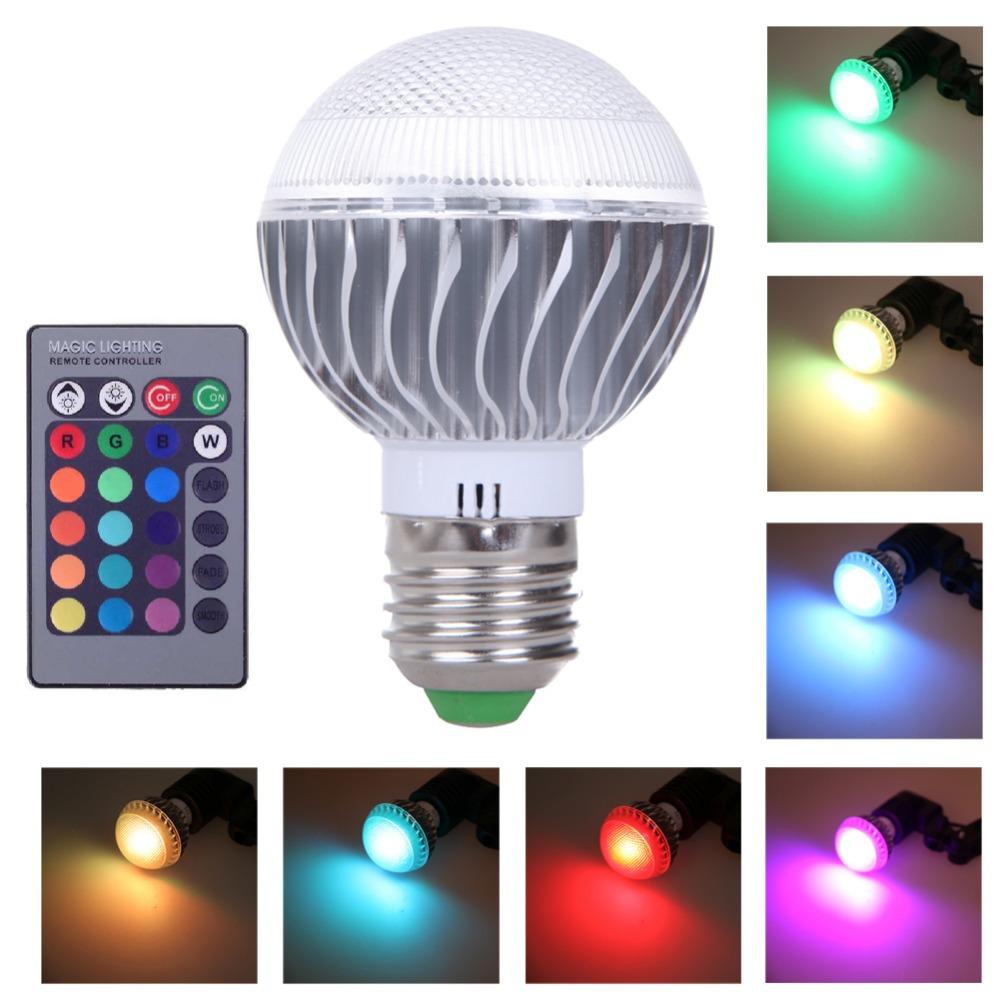 R1B1 16 Colors Changing 3W magic E27 RGB LED Lamp Light Bulb With IR Remote Control(China (Mainland))