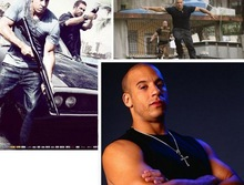New Movie jewelry The Fast and The Furious Dominic Toretto Vin Diesel Classic Male Rhinestone CROSS Pendant Necklace