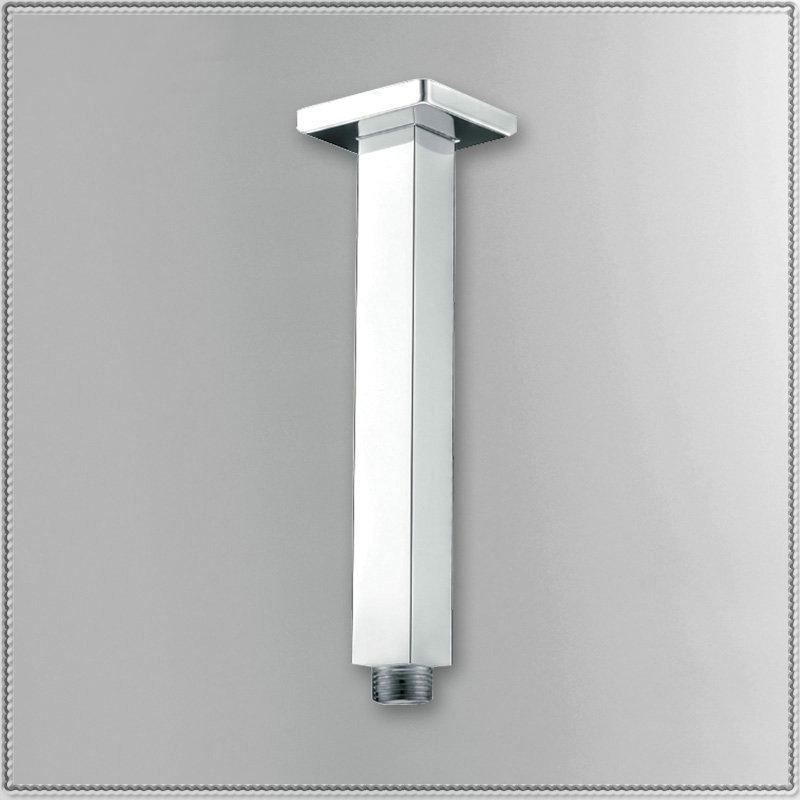 "8"" Square Ceiling Mounted Chrome Polished Rainfall Shower Arm torneira lavabo new(China (Mainland))"