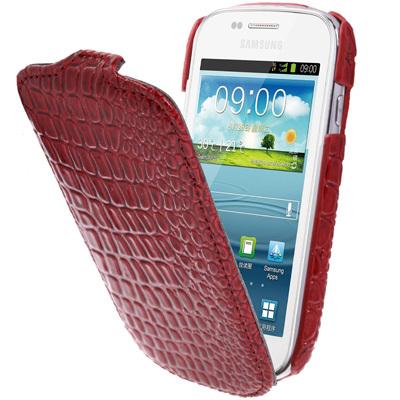 Flip Leather Case for Samsung Galaxy S3 mini i8190 S III Mini Crocodile Texture Vertical Mobile Phone Case Women Men Cases(China (Mainland))