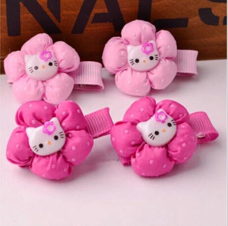 Hot sale! KT design children kids baby girls hair accessories clip hairpins barrettes headwear for princess(China (Mainland))