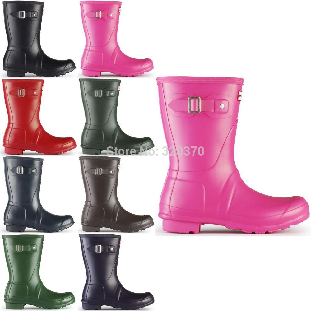 2015 WOMEN'S RAIN BOOTS ORIGINAL SHORT SNOW WELLIE 9 COLORS, LADIES'S RAINBOOTS(RAIN SHOES),FREE SHIPPING(China (Mainland))
