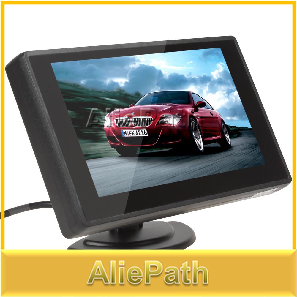 2015 [продажа] 4.3 Дюймов TFT LCD Монитор Автомобиля Парковка Монитор Заднего Вида Заднего Вида монитор 2 Видео Вход для Камера Заднего вида DVD бу монитор для камеры заднего хода