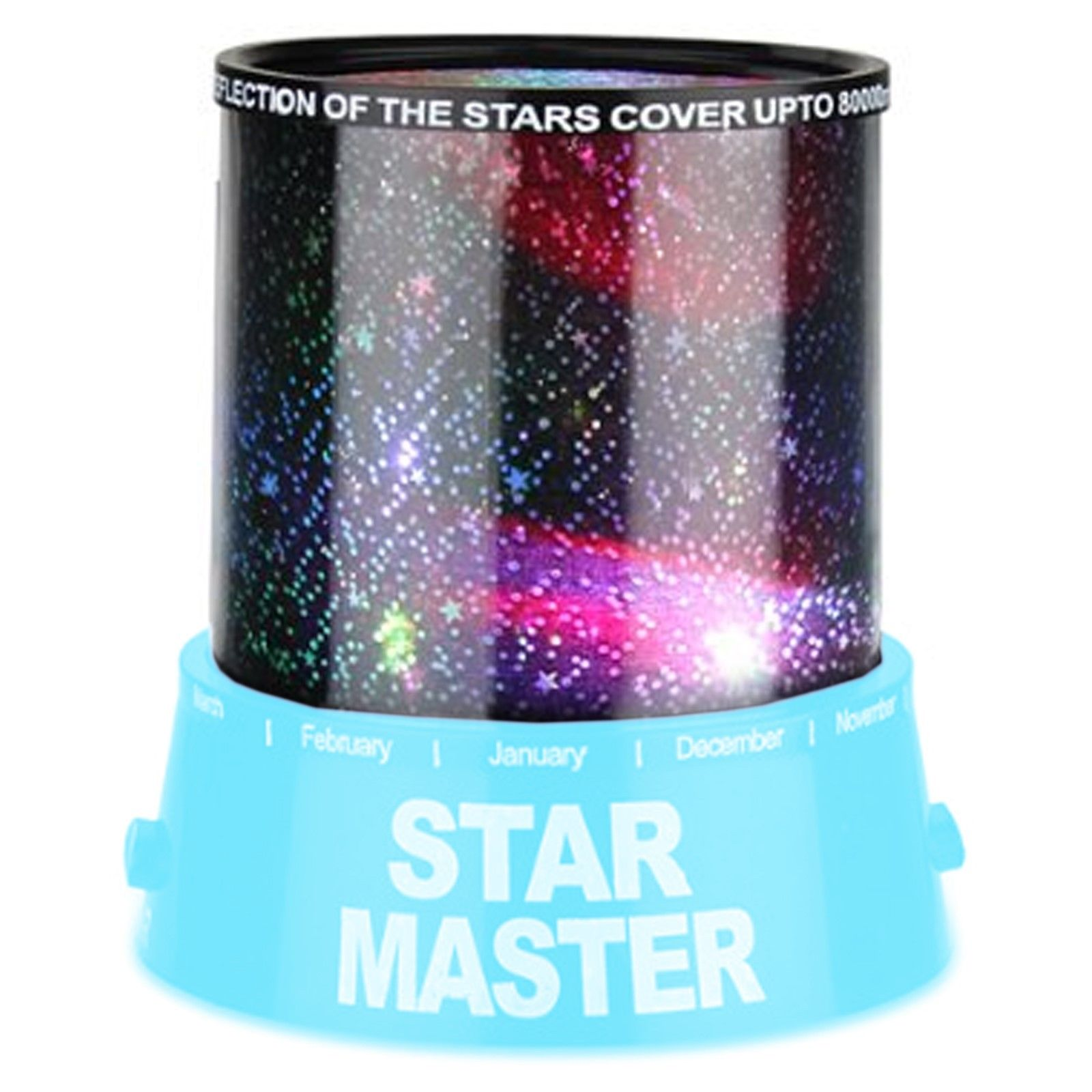Romantic Blue Amazing Master Star Sky Universal Night Light Kid Chidren Projector Christmas Gift Present(China (Mainland))
