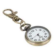 Unisex Alloy Analog Quartz Keychain Watch (Bronze)