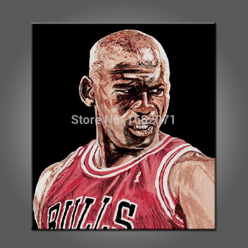 Basketball Oil Painting Oil Painting Handmade Mvp