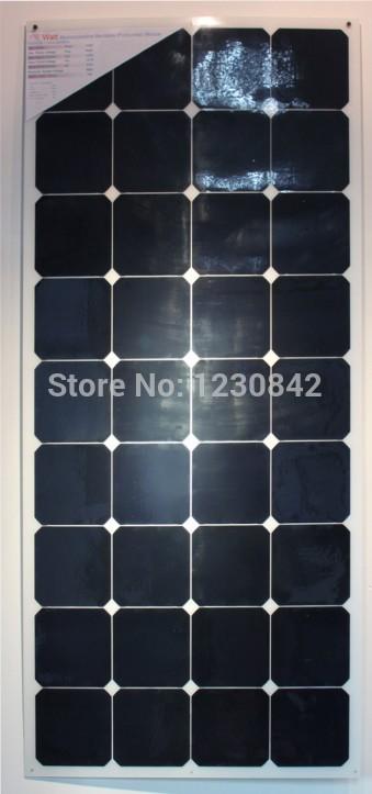 Semi Flexible Solar Panel 120W Light Weight 21% charging efficiency 25 years warranty(China (Mainland))