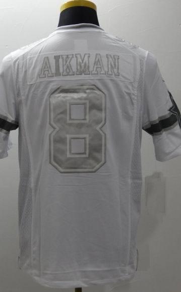 #8 Troy Aikman futebol americano Jerseys Aikman branco e Blue100 % costurado Mens Rugby Jerseys Cheap reminiscencia jersey(China (Mainland))