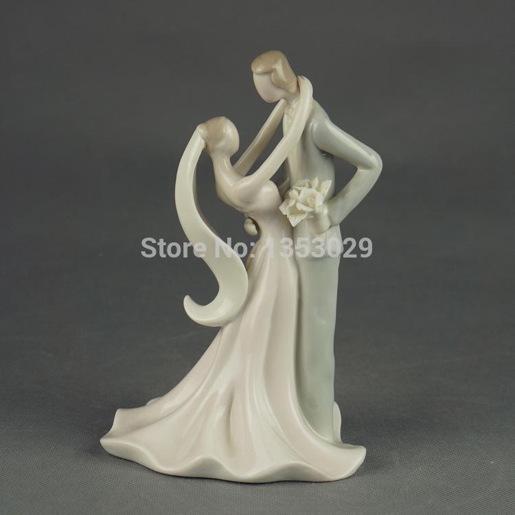 Ceramic Bride And Groom Figurine Ceramic Figurine Bride And