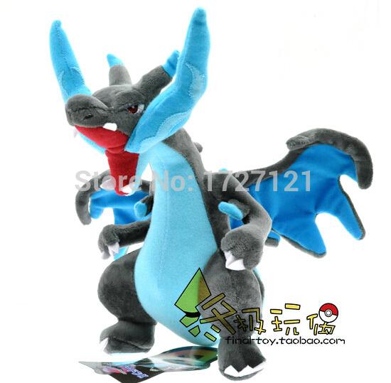 8pcs/lot 25cm Anime Peluches Pokemon Plush X Y Mega Charizard Plush Toys Dolls Blue Dragon Soft Stuffed Animal Doll Kids Toys(China (Mainland))