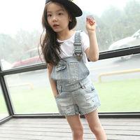 Free Shipping High quality 1pcs/lot Fashion Children Wear Overalls Girls  Casual Jeans Boys Denim Shorts NZ3611