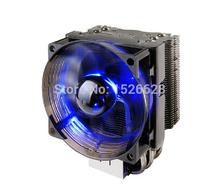 3pin PWM 4 heatpipe blue LED for Intel LGA2011 1156 1155 1150 775 for AMD FM1