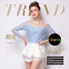 2015 high waisted shorts for women sexy female summer short feminino hot womens casual sort women's shorts skirts #GSW529(China (Mainland))