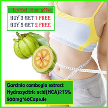 Slimming diet products to lose weight slim patch pure garcinia cambogia extract HCA75% 500mg*60caps free shipping