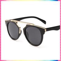 Vintage Metal frame Sunglasses Women Brand New Designer Cat Eye Glasses Fashion Women Decoration Men Classic Eyewear 5 colors