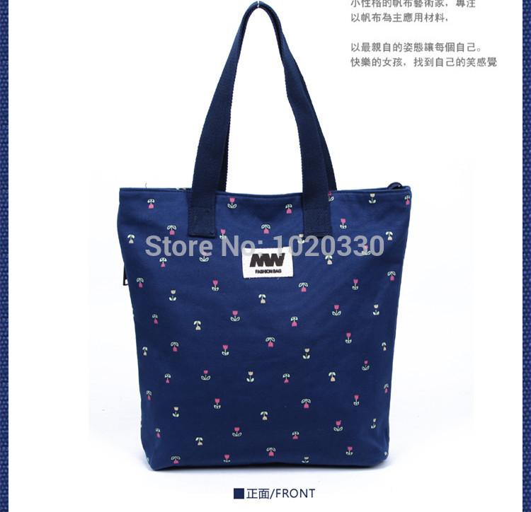 2015 new canvas shoulder bag handbags fashion flowers Korean tidal tote bag manufacturers, wholesale female models(China (Mainland))
