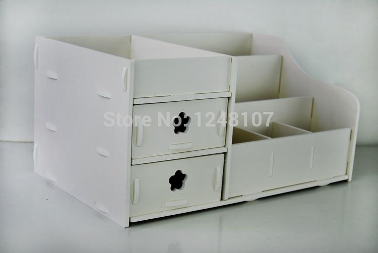 DIY PVC Desktop Storage Boxes Bathroom Bedroom Home Organization Home Decro(China (Mainland))