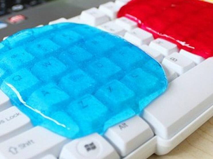 New 2015 Soft Sticky Clean Glue Gum Silica Gel Car PC Keyboard Dust Dirt Cleaner(China (Mainland))