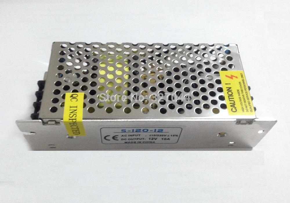 1pcs 12V 10A slim size LED transformer 12v dc switching power supply LED power supply 12V 10A 120W transformer 100-240V(China (Mainland))