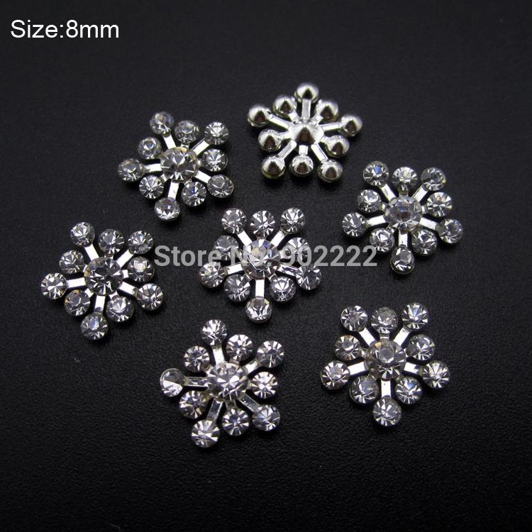 10pcs Clear rhinestones glitter Snow flakes nail design decorations nail art tools DIY accessories AM364(China (Mainland))