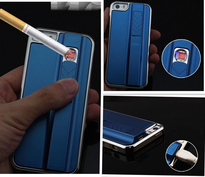 New Businessman Style Hot Cool Design Phone Case With Cigarette Lighter Metal Cover for iPhone 5 5s PC Hard cover Phone Bags(China (Mainland))