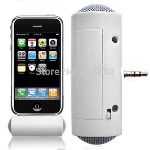 3.5mm Mini Portable Stereo Speaker For iPad iPod iPhone 4 5 6 MP3 MP4 Player Smart phone Laptop Free shipping(China (Mainland))
