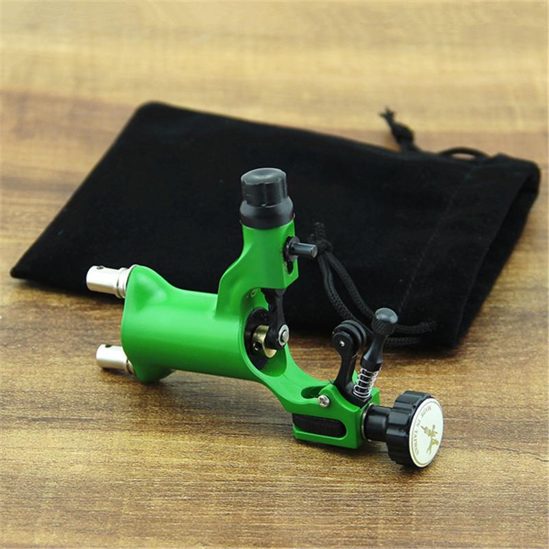 New Lightweight Plastic Rotary Motor Tattoo Machine Gun For Liner Shader Green(China (Mainland))