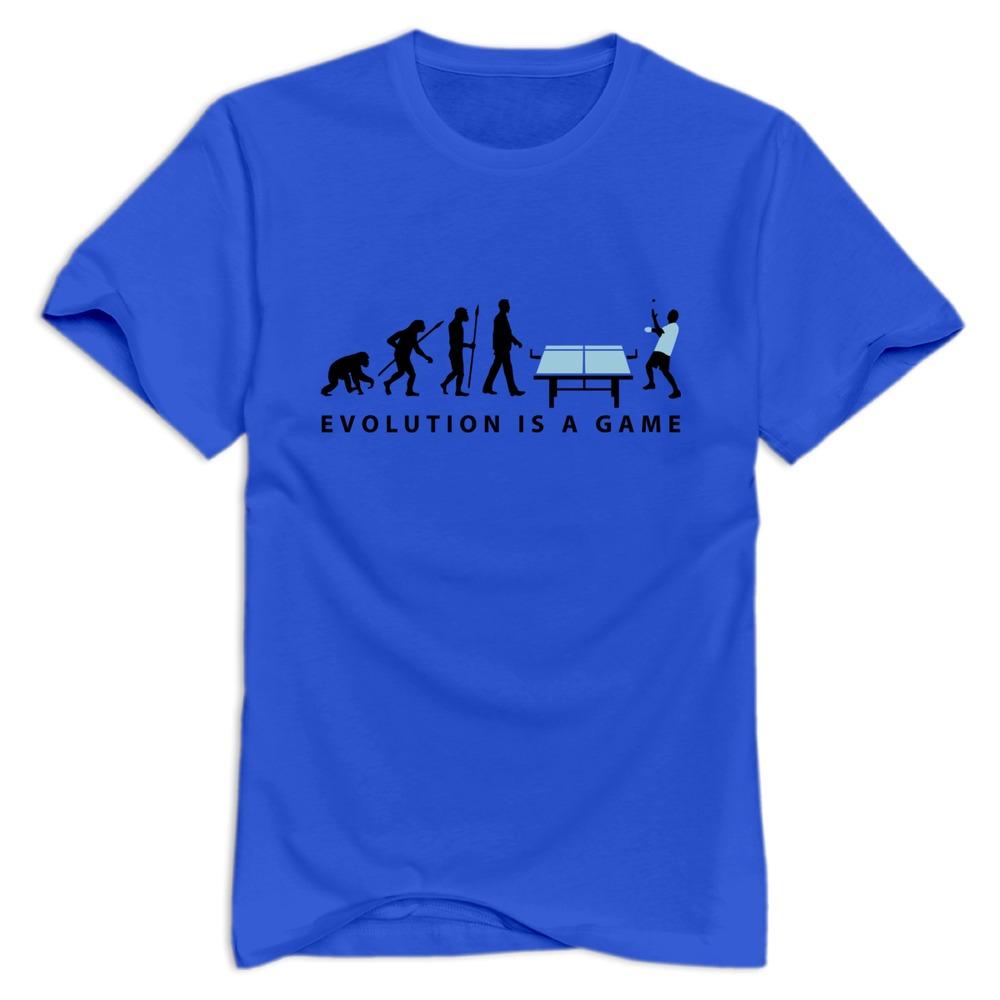 Short Sleeve Family man T Shirts Sport evolution table tennis 072012 c 2c T Shirt for Men's 2015 Fashion Style(China (Mainland))