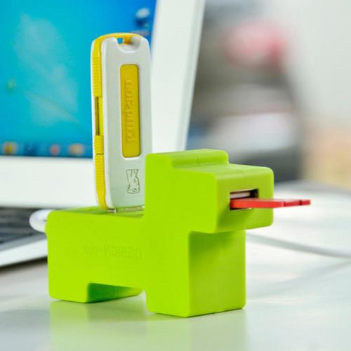 4Port USB Spliter & USB HUB 2.0 Funny USB HUB with Dog Bark Creative USB HUB with Cute Dog Design(China (Mainland))