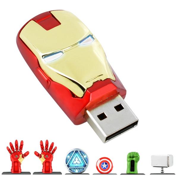 Iron Man Usb 2.0 Flash Drive 128GB 512GB Captain America Flash Disk Pen Drive 32GB 64GB Pendrive 1TB 2TB Memory Card Stick Key(China (Mainland))