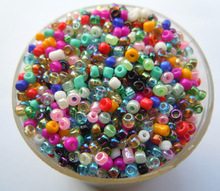 Free Shipping Hot Mixed Colors Shining 1000Pcs 2mm Czech Glass Seed Spacer Beads Jewelry Making DIY Pick 46 Colors