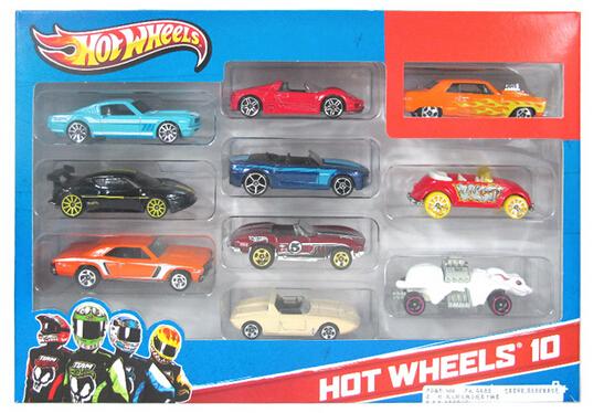 2015 hit children toy car model hot wheels alloy car model suits Hot wheels hot little sports car 10 cars(China (Mainland))
