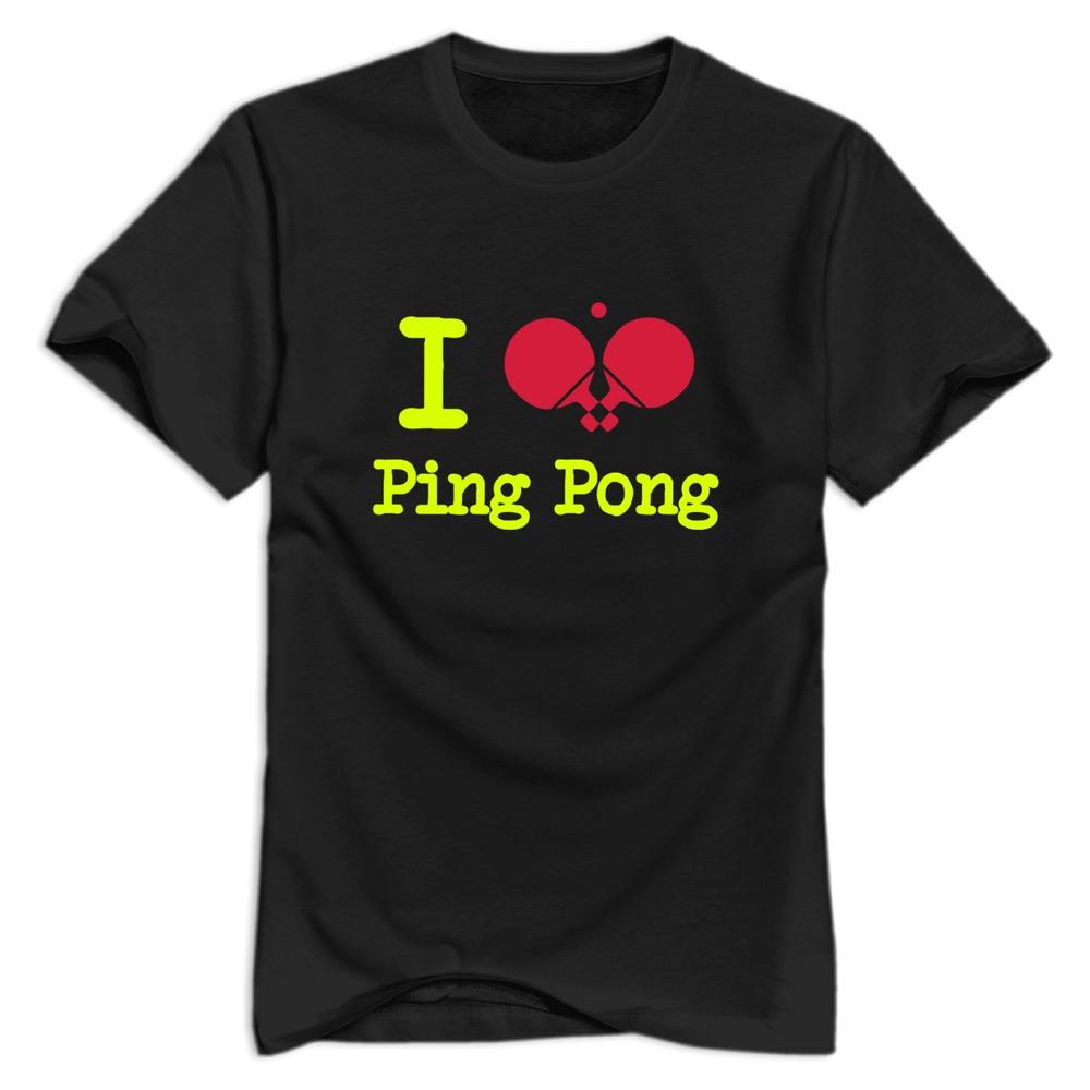 Regular Cartoon boy's Tees Shirt Sport i love table tennis T Shirt for Men's 2015 Brand New(China (Mainland))