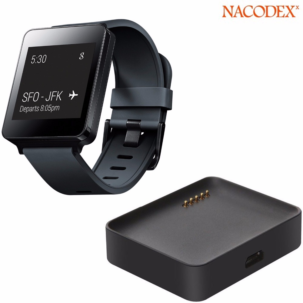 Nacodex Micro USB Charging Battery Dock Charger Cradle For LG G Watch W100 Smartwatch Free Shipping(China (Mainland))