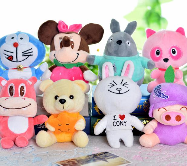 Plush Panda Hippo Teddy Bear Toys Doll Wedding Gift Giraffe Sucker Pendant Baby Toy Shop(China (Mainland))