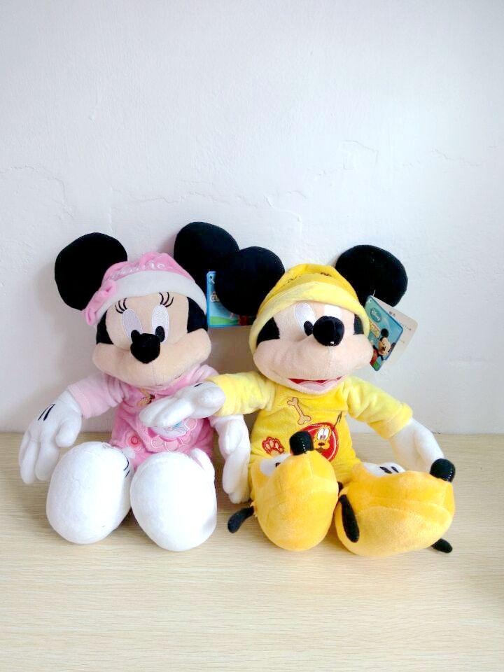 40CM 2pcs/lot pluto Mickey & Marie Minnie plush toy baby toys free shipping T238(China (Mainland))