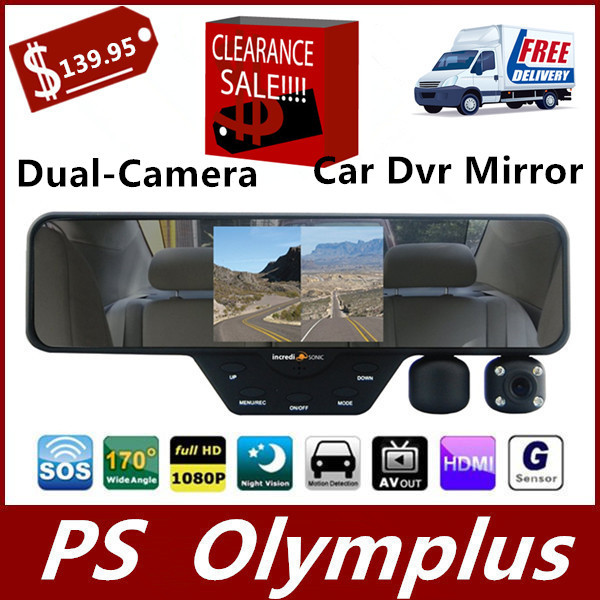 F-360 HD Rear View Mirror Car DashCam DVR Video Recorder Dual-Camera 1080p HD FREE 32GB High Speed Class 10 SD Card Included(China (Mainland))