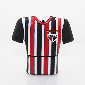 100% Genuine USB Flash Drive Sao Paulo Football Club shirt shaped memory stick pen drive 4GB 8GB 16GB 32GB 64GB pendrive cheap(China (Mainland))