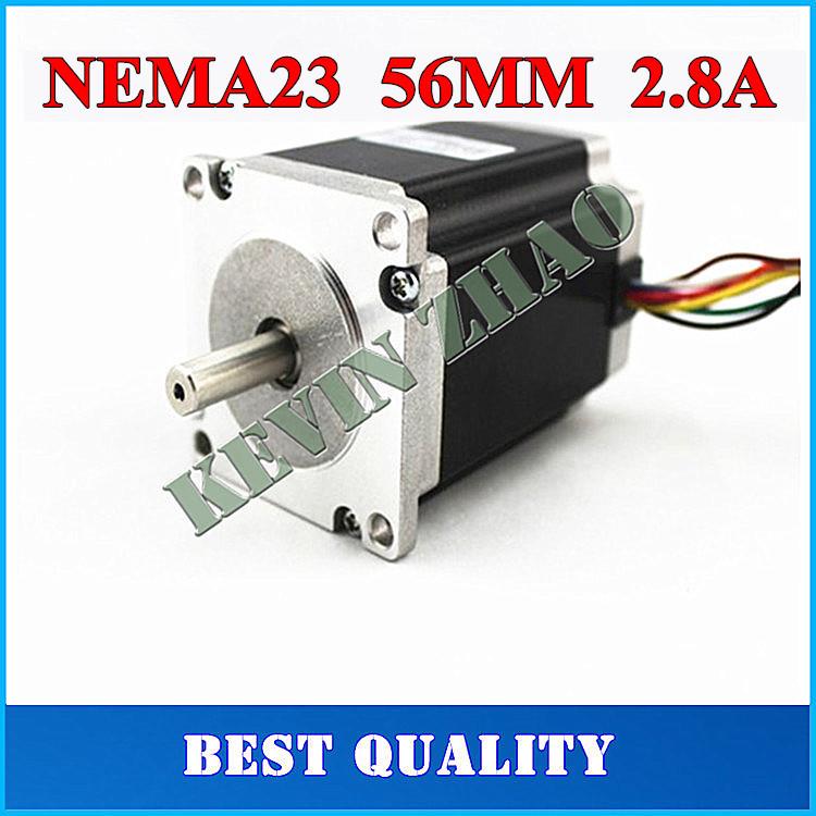 Шаговый двигатель MUX 23HS5628 4/nema 23 57 NEMA23 2.8a ISO CNC 4 axis cnc kit  nema23 3a 270 oz in