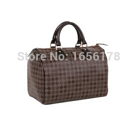 Fashion 3 color Women Famous Brand Canvas Speedy 30 Handbags leather Free shipping tote Bag 4-1-52-6 With Lcok And Key(China (Mainland))