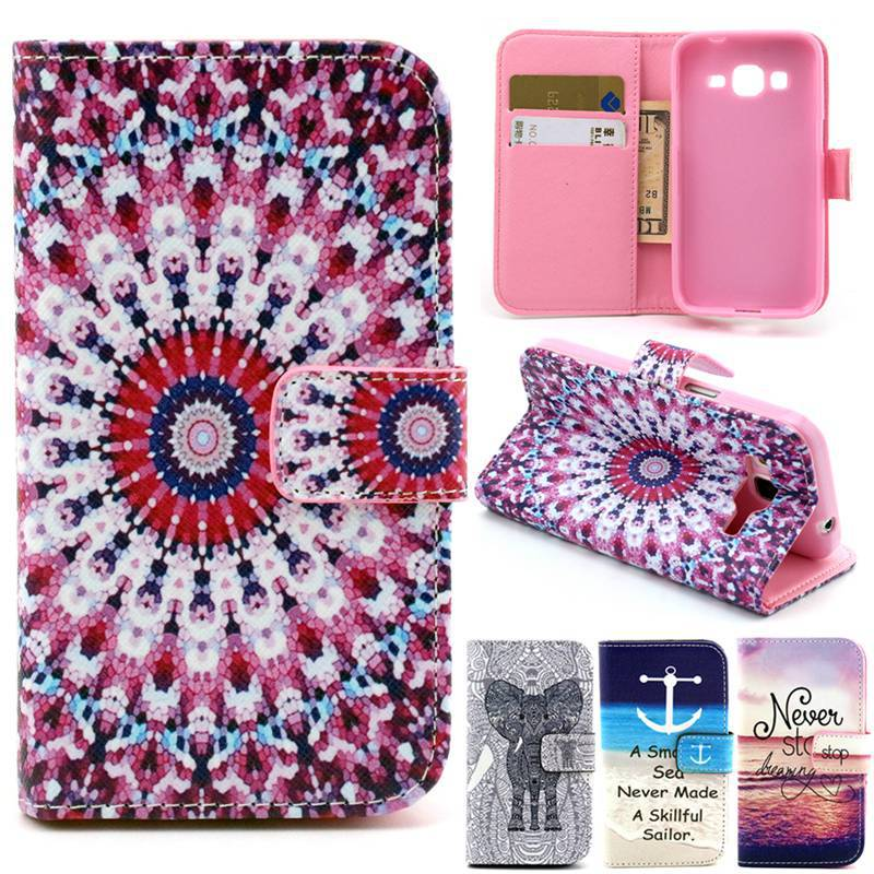 For Samsung Galaxy Core Prime G360 G360H Stand Flip Wallet Leather Silicon Back Cover Case G3606 G3608 G3609 Phone Cases Bags(China (Mainland))