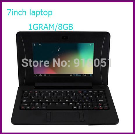 Freeshipping 8GB 7 inch VIA 8880 Mini Laptop 1GBRAM 8GB Ultrabook HDMI Camera WIFI RJ45 Android 4.2 Netbook Notebook(China (Mainland))