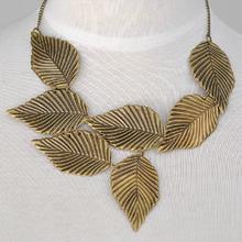 Vintage Bohemian Statement Necklaces Leaves Charm choker necklace