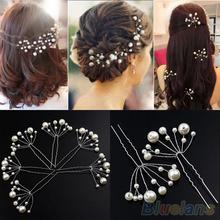 Fashion New Wedding Bridal Bridesmaid Pearls Hair Pins Clips Comb Headband  1OS3