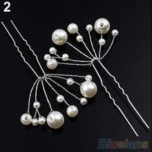Fashion New Wedding Bridal Bridesmaid Pearls Hair Pins Clips Comb Headband 1OS3 2OHU