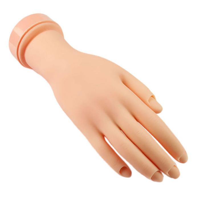 Best Deal Flexible Soft Plastic Flectional Mannequin Model Hand Nail Art Practice Tool 1pcs(China (Mainland))