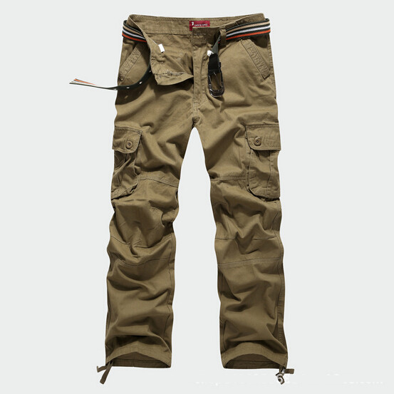 2015 Fomous Brand Mens Military Cargo Pants for Men More Pockets Zipper Trousers Outdoors Overalls Plus Size 30-44 Army Pants(China (Mainland))