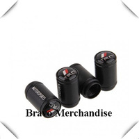 4caps/set cars accessaries  wheel tire tyre valve caps black Grind arenaceous covers with trd car logo brands emblem badge